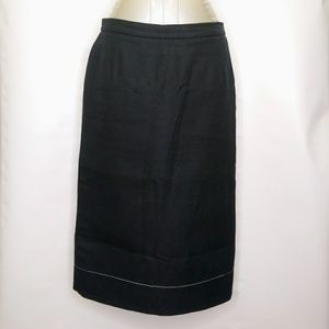 Prada Navy Blue Textured Knee Length Pencil Skirt